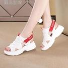 休閒涼鞋21新款運動涼鞋女夏季學生韓版百搭chic厚底鬆糕同款女鞋子 快速出貨