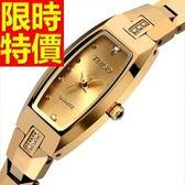 鑽錶-有型俏麗閃耀鑲鑽女腕錶3色62g3[時尚巴黎]