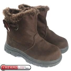 【兒童 牛角扣中筒雪靴 咖啡】 SN205/中筒靴/雪靴/雪鞋/冰爪★滿額送