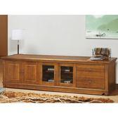 電視櫃 PK-625-5 維也納樟木7尺實木電視櫃【大眾家居舘】