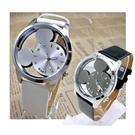 韓版精緻米奇概念造型鑲鑽手錶  1對優惠460元--- 時尚白(黑帶)+神祕黑 【Vogues唯格思】C036