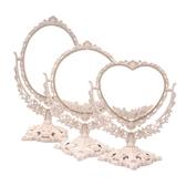 鏡子化妝鏡梳妝鏡子台式簡約大號公主鏡高清雙面鏡子宿舍鏡子女    蘑菇街小屋