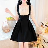 洋裝~4223# 甜美網紗雪紡連身裙女拼接假兩件泡泡袖A字裙TCF1-09胖妞衣櫥