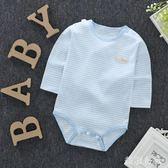 中大尺碼 長袖包屁衣夏季彩棉寶寶嬰兒連體衣服 ZB763『美鞋公社』