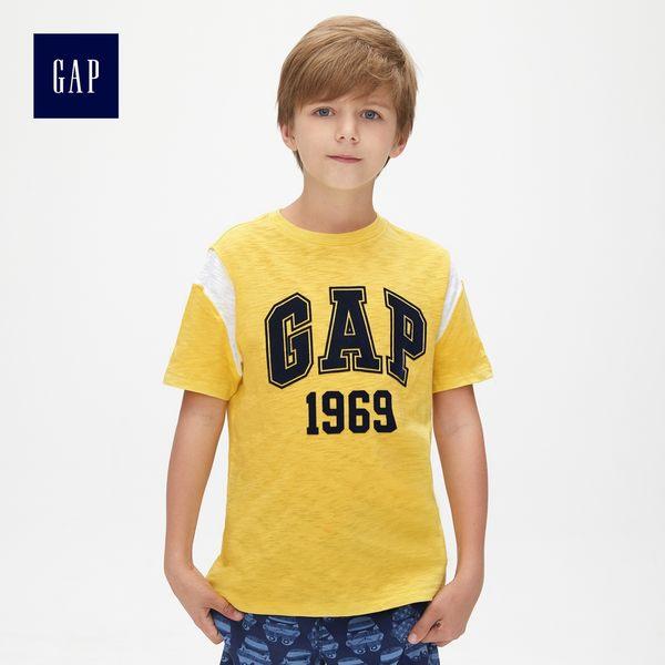 Gap男童 Logo活力短袖T恤 447287-黃色