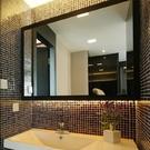 簡約浴室鏡70*90 壁挂衛生間鏡子廁所梳妝台玻璃鏡洗手間洗漱衛浴半身鏡 快速出貨