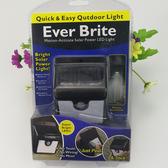 BO 雜貨【SV6418 】Ever Brite 自動感應燈4LED 太陽能路燈家用戶外壁燈防水超亮庭院燈走道人體感應