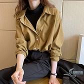 秋季女裝假兩件襯衣T恤復古上衣長袖打底小衫【邻家小鎮】