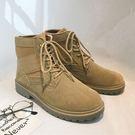 經典流行復古軍事風格百搭靴子
