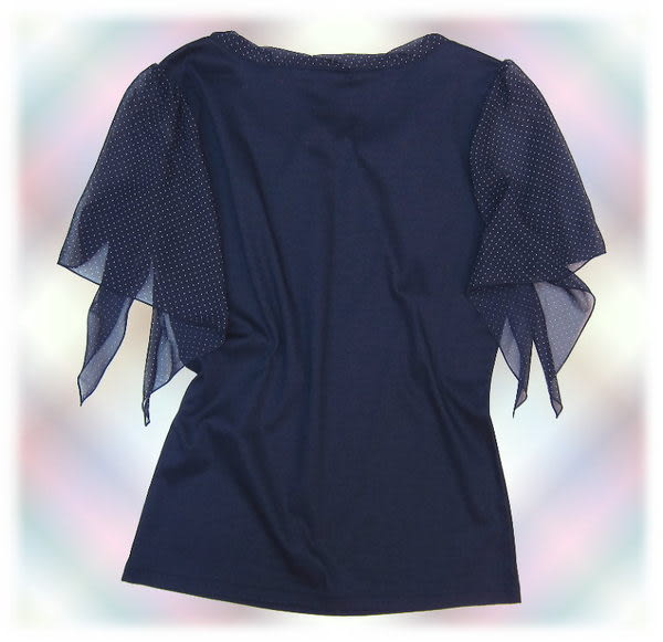 【波克貓哈日網】日本製 淑女上衣◇Boulangels◇《氣質深藍色》