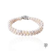 【LECRIN翠屋珠寶】天然珍珠手鍊6.5mm(二串)