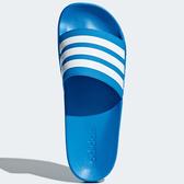 ADIDAS ADILETTE CLOUDFOAM 男鞋 拖鞋 防水 海灘 基本款 藍 白【運動世界】B42211