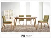 【MK億騰傢俱】CS932-1L利斯特4.6尺實木餐桌椅組(桌*1、椅*4)