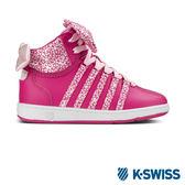 K-Swiss Classic VN Mid休閒運動鞋-大童-桃紅