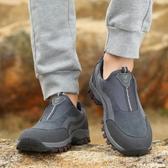冬季回力老人健步鞋女媽媽鞋中老年軟底防滑爸爸鞋男加絨保暖棉鞋 深藏blue