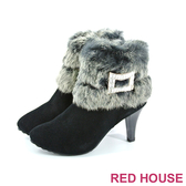 【RED HOUSE-蕾赫斯】兔毛亮鑽短靴