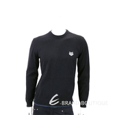 KENZO Tiger 虎頭刺繡黑色針織衫(男款) 1830413-01