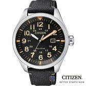CITIZEN 星辰 (AW5000-24E)光動能 帆布 男錶/黑/42mm