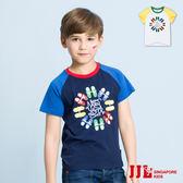 JJLKIDS 男童 手繪球鞋圓領短袖棉上衣T恤(2色)