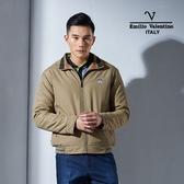 Emilio Valentino范倫鐵諾經典防風鋪棉保暖外套(卡其)