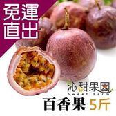 沁甜果園SSN 高雄型農傳統百香果(5台斤/盒)E00900077【免運直出】