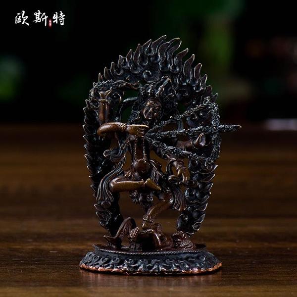 歐斯特 藏傳佛教用品尼泊爾銅手工3寸咕嚕咕咧作明