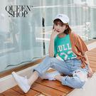 Queen Shop【01037948】數字拼接格紋綁帶上衣*現+預*