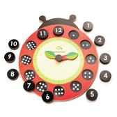 【美國Tender Leaf Toys】數字瓢蟲學習鐘(內附12塊磁性積木)