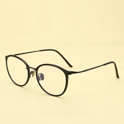 鏡架(橢圓框)-學院風文藝氣質時尚男女平光眼鏡6色73oe25[巴黎精品]