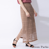 ❖ Hot item ❖ 刺繡感蕾絲透膚長裙 - Green Parks