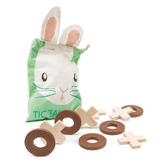 【美國Tender Leaf Toys】小兔圈叉遊戲組(積木益智遊戲)