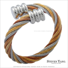 戒指 西德鋼戒指「擁抱」彈性可微調整 三...