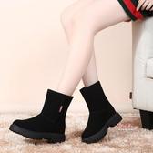 雪靴 雪地靴女2019新款冬季短筒厚底加絨加厚短靴防滑戶外棉鞋35-40碼 2色