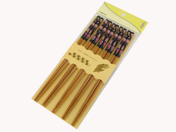【好市吉居家生活】上龍 A級筷5雙-黑金扇21  筷子 TL128721