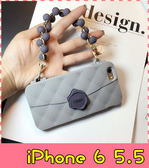【萌萌噠】iPhone 6 / 6S Plus (5.5吋) 歐美創意奢華 可麗花手提包保護殼 全包防摔矽膠軟殼 手機殼