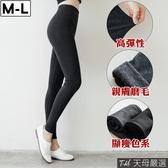 【天母嚴選】分尺碼-彈力保暖磨毛內搭褲(共二色)