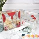 聖誕包裝盒牛軋糖透明PET塑料禮盒糖果餅干手提包裝袋【淘嘟嘟】