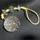 文殊菩薩 轉運九宮八卦 4.9公分 吊飾-銀色