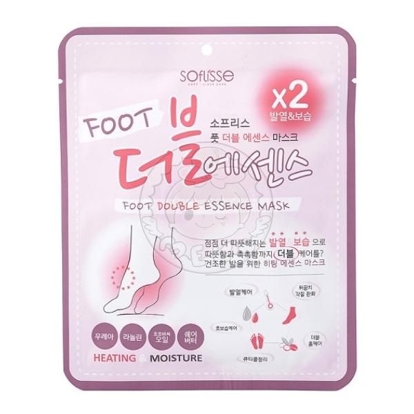 韓國SOFLISSE 溫感加倍滋潤嫩白護足膜(一對入)