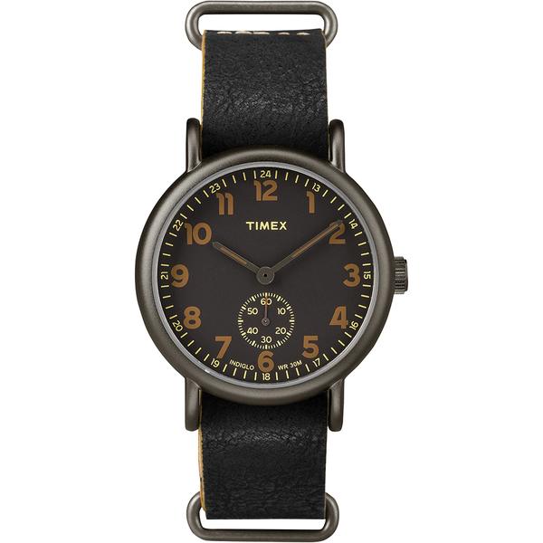 【TIMEX】天美時 Weekender Chrono週末系列復刻手錶(黑/黑 TXT2P86700)
