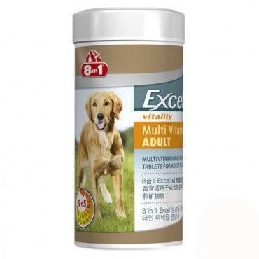 8in1 美國 Excel長效型 成犬綜合維他命 70錠 X 2罐