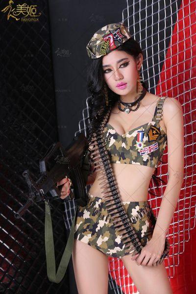 衣美姬♥軍中情人!角色扮演女阿兵哥 迷彩誘惑 軍裝 夜店 舞者遊戲服