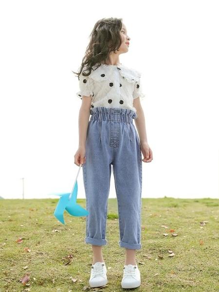 網紅中大童女裝夏裝2020新款洋氣兒童夏季套裝女童時髦兩件套12歲 童趣屋