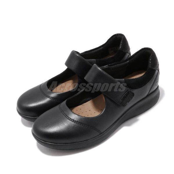 Clarks 休閒鞋 Un Adorn Strap 黑 真皮鞋面 休閒皮鞋 女鞋 【PUMP306】 CLF40133SC19