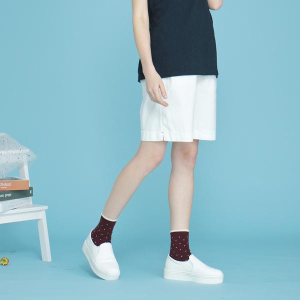 【中大尺碼】MIT舒適仿麻超彈短褲