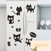 冰箱自粘防水可擦洗貼紙裝飾卡通磁性貼畫【小玉米】