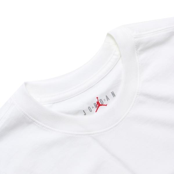 NIKE 短T JORDAN 白 紅 英文LOGO 短袖T款 休閒 短袖 男 (布魯克林) CN3331-100