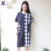 American Bluedeer - 拼接格子洋裝(魅力價) 春夏新款