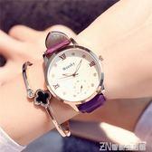 夜光指針手錶女學生韓版簡約潮流ulzzang休閒大氣時尚皮帶石英錶      智能生活館