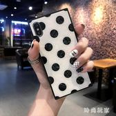 iphonex手機殼 玻璃簡約波點Phone保護套女款硅膠 ZB830『時尚玩家』